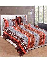 Best Deal Double Bed Sheet With Pillow Cover Cottonwa0012, multicolor