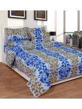 Best Deal Double Bed Sheet With Pillow Cover Cottonwa0034, multicolor
