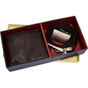 Giftbox-Men s Belt Wallet Combo,  brown