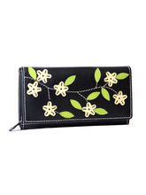 Thayla Classy Designer Leather Wallet, Black