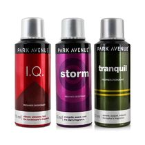 Park Avenue Set of 3 (I. Q, Storm & Tranquil) Men Deodorant
