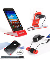 Riona Mobile Holder A4L Red+ Hanger Stand+ Cable O...