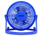 Texet FANUSB-Blue Flexible Neck Plug & Play 4 in. Mini USB Fan for PC| Laptop| Mac