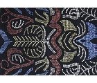 Rudra Carpets Wool Mix Artificial Silk Abstract (R722), multicolor