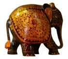 ShopOJ Wooden Hand Carved Painted Elephant 4 Inch (HC-WD4-ELE0323), brown