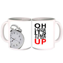 It's Time To Get Up Mug By Shopkeeda