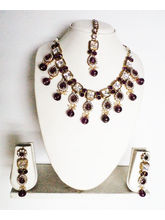 Deep Purple, Gold Color Gold Plated Necklace Paire...