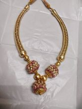 Gold Color, Off White, Rose Pink Necklace Set-GI36...