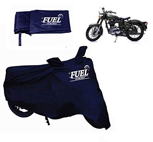 FUEL -Motorcycle Blue Cover for Royal Enfield Bullet 500, blue