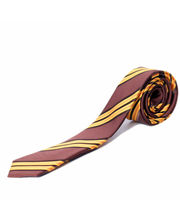 BLACKSMITHH TIES - BROWN AND MANGO FASHION DIAGONALS