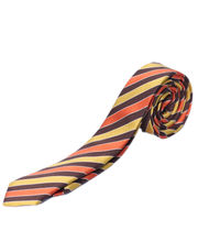BLACKSMITHH TIES - BROWN YELLOW AND ORANGE FASHION DIAGONALS
