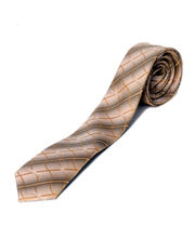 BLACKSMITHH TIES - BEIGE WAVES ALL OVER INTRICATE DESIGN