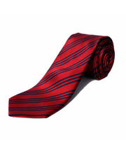 BLACKSMITHH TIES - DARK RED AND NAVY STRIPES