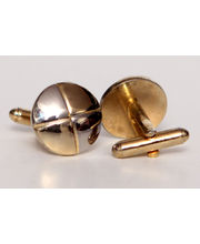 BLACKSMITHH CUFFLINKS- This Two Tone In Gold Cufflink Gives A Gladiator Shiled Look