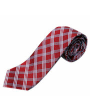 BLACKSMITHH TIES - RED AND WHITE CHECKS