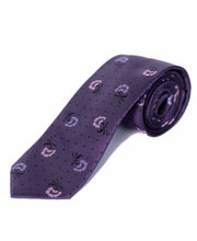 BLACKSMITHH TIES - PURPLE ABSTRACT ROSE ALL OVER DESIGN
