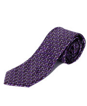 BLACKSMITHH TIES - PURPLE AND LAVENDER ALL OVER INTRICATE WEAVE DESIGN