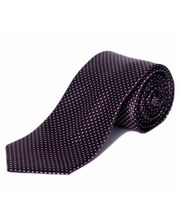 BLACKSMITHH TIES - PURPLE AND WHITE CORPORATE ALL OVER WEAVE