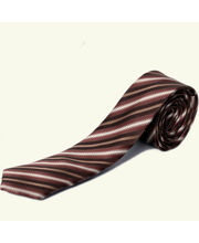 BLACKSMITHH TIES - SHADES OF BROWN FASHION DIAGONALS