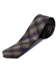 BLACKSMITHH TIES - MUDDY GREEN AND NAVY ABSTRACT CHECKS
