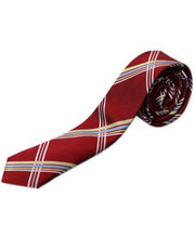 BLACKSMITHH TIES - RED AND YELLOW ABSTRACT CHECKS