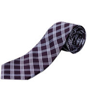 BLACKSMITHH TIES - PURPLE AND WHITE CHECKS
