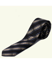 BLACKSMITHH TIES - BLACK AND BEIGE ABSTRACT CHECKS
