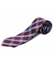 BLACKSMITHH TIES - SKY BLUE AND WINE CHECKS