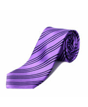 BLACKSMITHH TIES - LAVENDER AND NAVY STRIPES
