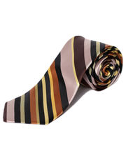 BLACKSMITHH TIES - MULTITUDE LAYER OF BROWN AND YELLOW DIAGONALS