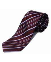 BLACKSMITHH TIES - WINE AND SKY BLUE ALL OVER STRIPES