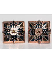 BLACKSMITHH CUFFLINKS - GOLD CUFFLINK WITH COLOURED ENAMEL MAKES THIS TRADITIONAL PATTERN TRULY HEAVENLY