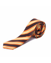 BLACKSMITHH TIES - ORANGE AND BROWN FASHION DIAGONALS