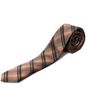 BLACKSMITHH TIES - BROWN AND HENNA ABSTRACT CHECKS
