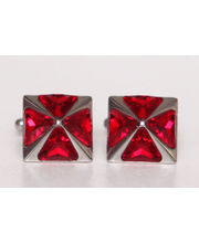 BLACKSMITHH CUFFLINKS - A Stunning Pyramid Of Four Swarovski Crystals Set In A Rhodium Plated Case. This Chic Design Utilises The Sparkle Of The Crystal As They Rise From A Flat Surface. The Blend Of A Square Practicality With The Crystal Makes This Desig