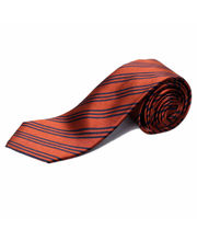 BLACKSMITHH TIES - RUST AND NAVY STRIPES