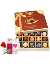 Lovely Truffles Collection With Love Card And Rose...