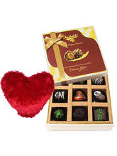 Sweet Admirer Of Love Chocolates With Heart Pillow...
