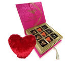 Made For Each Other Of Love Chocolates With Heart Pillow - Chocholik Belgium Chocolates