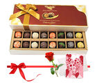 An Awesome Treat Of Assorted Truffles With Love Card And Rose - Chocholik Belgium Chocolates