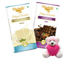 Chocholik Gifts For Her Or Him Feel Special To Your Girlfriend With Chocolate Bars Combo With Teddy (CH4018_ TD)