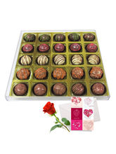 Exotic Truffle Gift Box With Love Card And Rose - ...