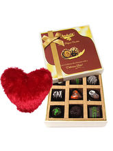 Sweet Moment With Dark Chocolate With Heart Pillow...