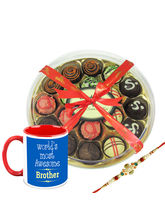 Chocholik Rakhi Gifts Chocolate Share A Beautiful Connection With Each Other With Hamper Chocholik Belgium Chocolates (CH3099_ BRO)