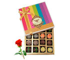 Enjoyable Dessert Truffles Treat With Red Rose - Chocholik Belgium Chocolates