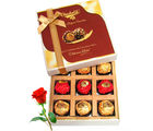 Ultimate Chocolates Gift Box With Red Rose - Chocholik Belgium Chocolates