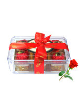 Sweetened Gift For Your Loved With Red Rose - Choc...
