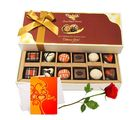 Sweet Love Like Chocolate With Rose And Love Card - Chocholik Belgium Chocolates