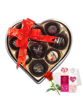 Gracious Love Chocolates With Love Card And Rose -...