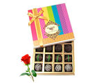 Appetizing Truffle Collection With Red Rose - Chocholik Belgium Chocolates